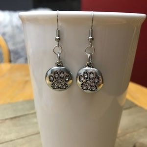 3 for $25 Handmade Crystal Dog Paw Earrings